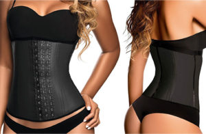 Waist Trainer And Shaper - Black 3 Hook Latex Waist Cincher Belt - By Ann Chery