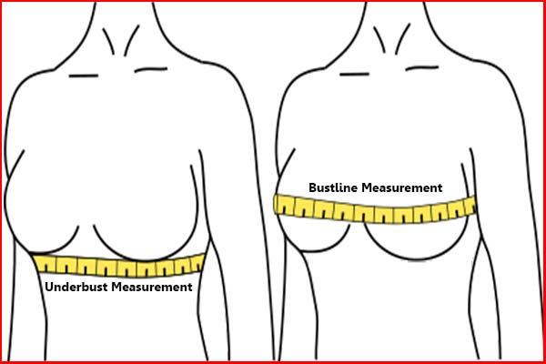 How to measure your bust