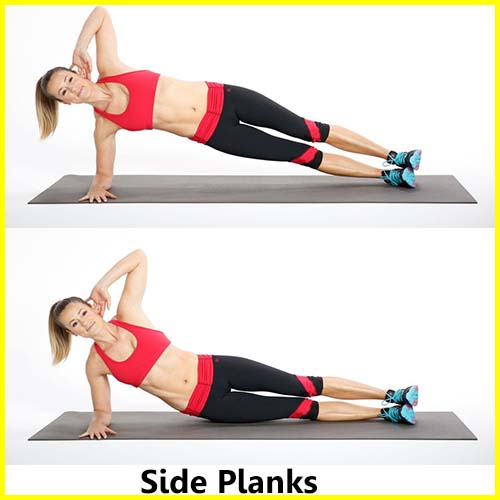 Best exercises for muffin top and love handles - Side Planks