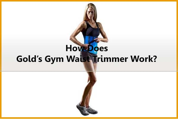 How does Gold's Gym waist trimmer belt work